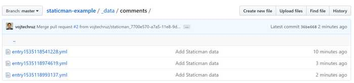 Staticman Files