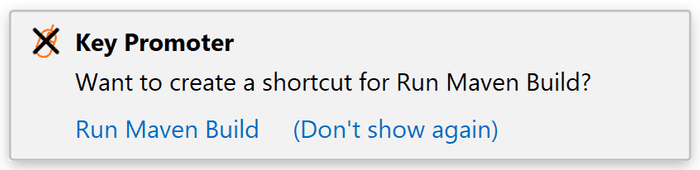 Key promoter can suggest you to create a shortcut